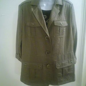 89th & Madison Olive Green Jacket